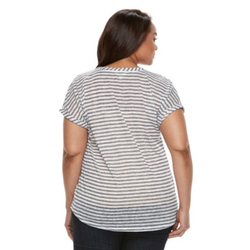 Plus Size Kate and Sam Striped Tee