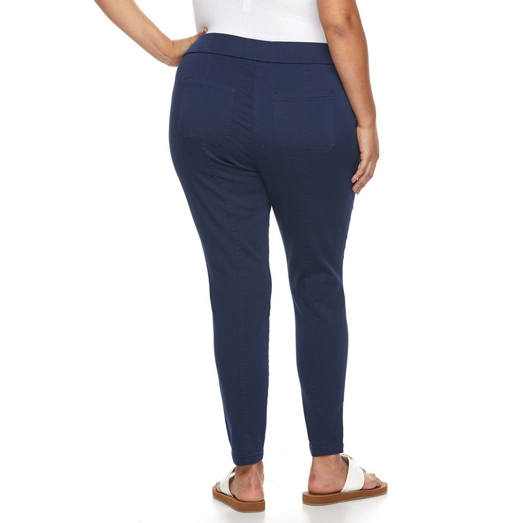 Plus Size Kate and Sam Skinny-Leg Stretch Pants