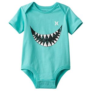 Baby Boy Hurley Shark Teeth Graphic Bodysuit
