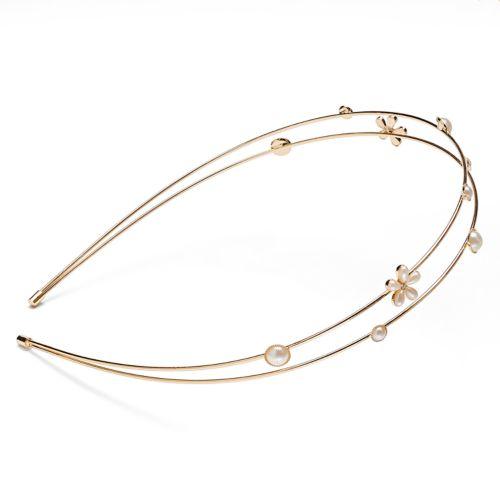LC Lauren Conrad Flower 2-Row Headband