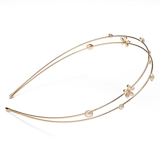 LC Lauren Conrad Flower 2-Row Headband