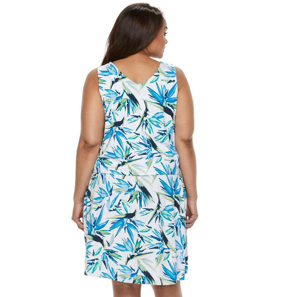 Plus Size Kate and Sam Floral Popover Dress