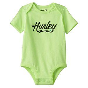 Baby Boy Hurley Logo Graphic Bodysuit