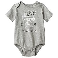 Baby Boy Hurley Skull Graphic Bodysuit