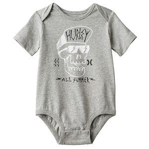 Baby Boy Hurley Skull Graphic Bodysuit