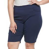 Plus Size Kate and Sam Super Stretch Bermuda Shorts