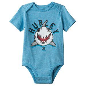 Baby Boy Hurley Shark Graphic Bodysuit