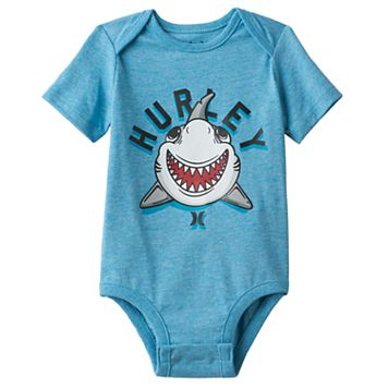 Baby Boy Hurley Shark Graphic Bodysuit
