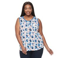 Plus Size Kate and Sam Flamingo Slubbed Tank