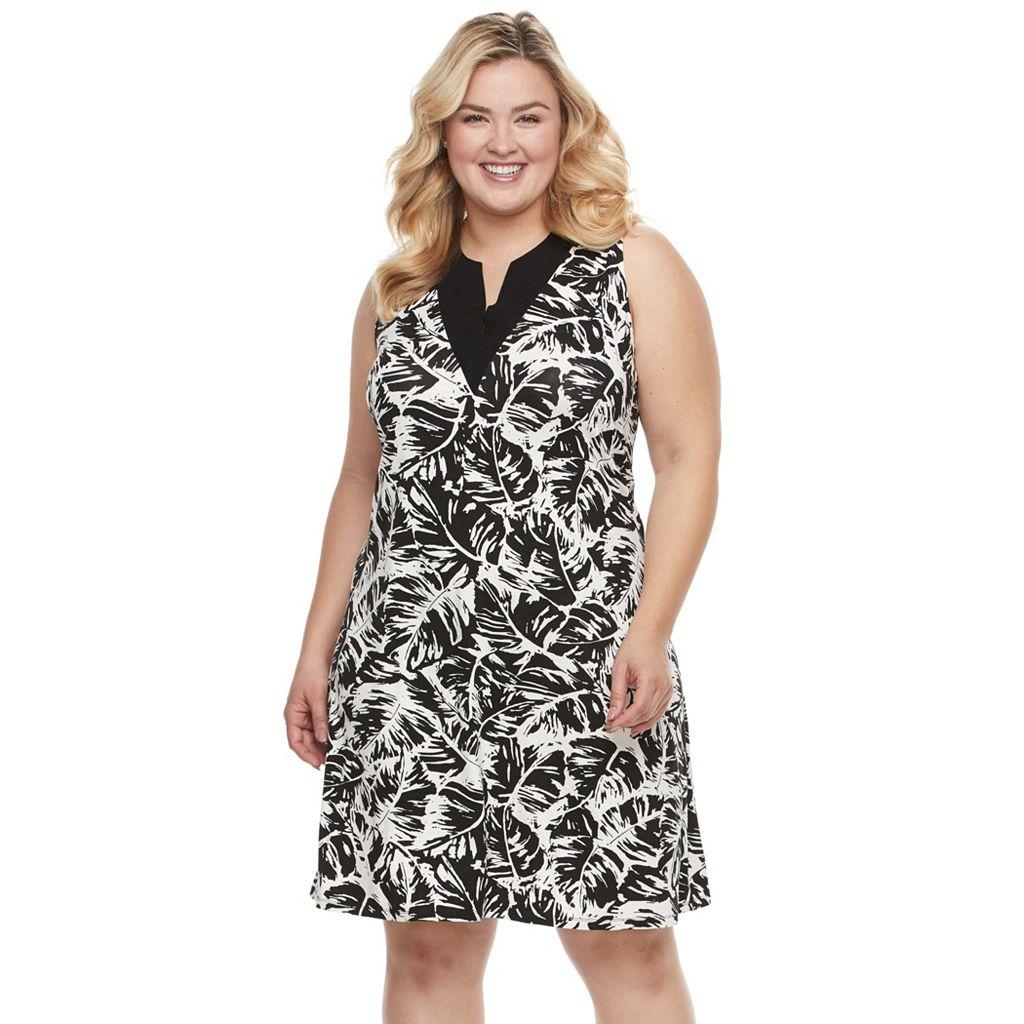 Plus Size Kate and Sam Gauze Knit Dress