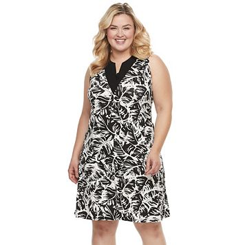 Plus Size Kate and Sam Gauze Knit Dress