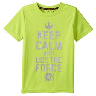 """Boys 4-7x Star Wars a Collection for Kohl's """"Keep Calm And Use The Force"""" Foil Graphic Tee by Jumping Beans®"""