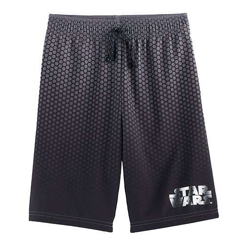 Boys 4-7x Star Wars a Collection for Kohl's Gradient Metallic Logo Mesh Shorts