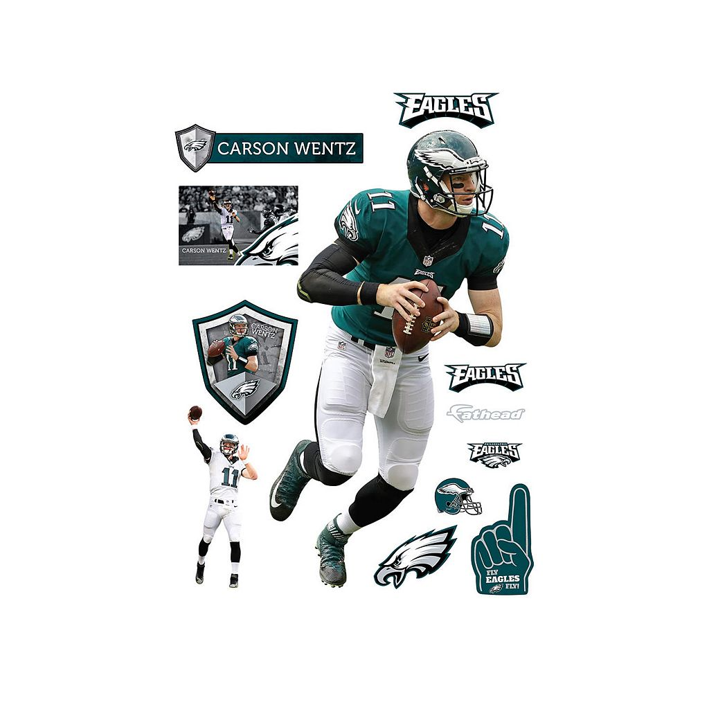 Philadelphia Eagles Carson Wentz Real Big Wall Decal by Fathead