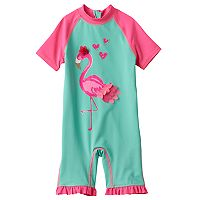 Baby Girl Wippette Flamingo Rashguard Wet Suit