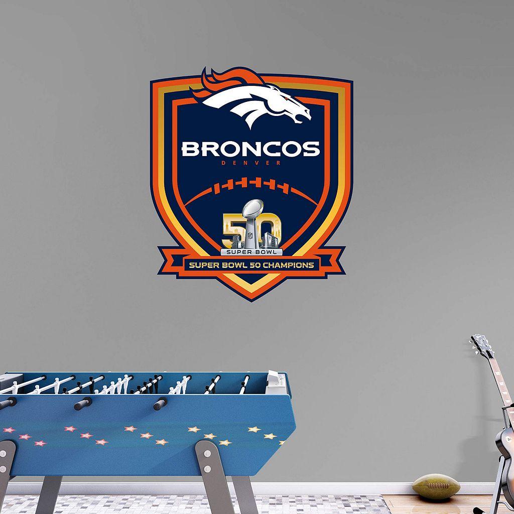 Denver Broncos Super Bowl 50 Champions Logo Wall Decal by Fathead