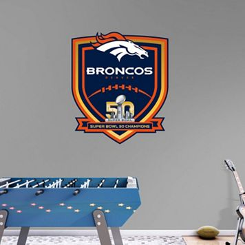 Denver Broncos Super Bowl 50 Champions Logo Wall Decal by Fathead