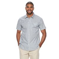 Big & Tall Columbia Sycamore Falls Classic-Fit Plaid Stretch Button-Down Shirt