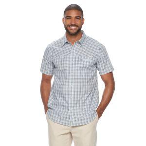 Big & Tall Columbia Sycamore Falls Classic-Fit Plaid Stretch Button-Down Shirt