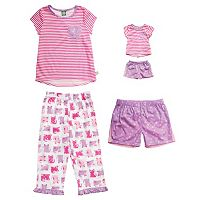 Girls 4-14 Dollie & Me Cat Pajama Set