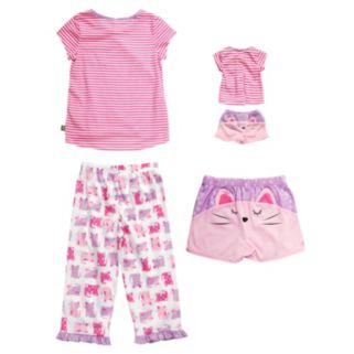 Girls 4-14 Dollie & Me Cat Pajama Set