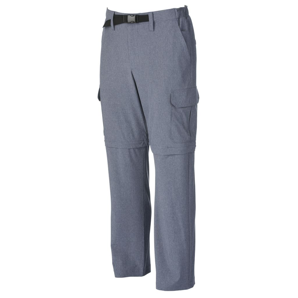 Men's Croft & Barrow® Classic-Fit Performance Stretch Belted Convertible Cargo Pants