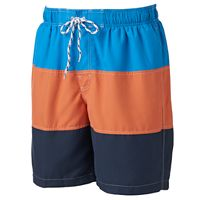 Big & Tall Croft & Barrow® Colorblock Microfiber Swim Trunks