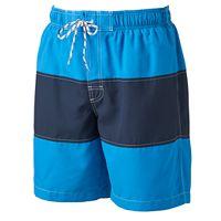 Big & Tall Croft & Barrow® Colorblock Microfiber Swim Trunks