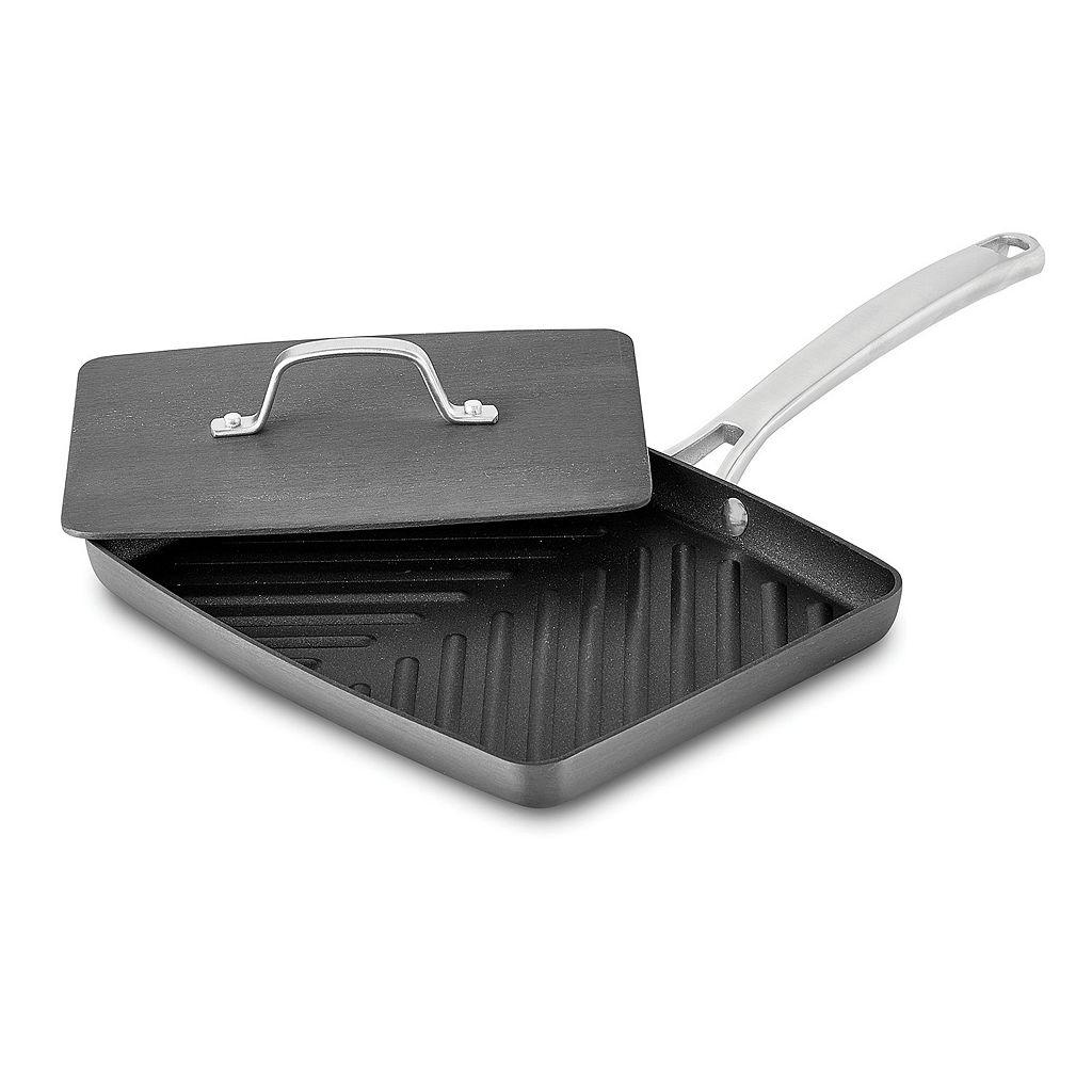 Calphalon Classic Hard-Anodized Nonstick Panini Pan with Press