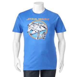 Big & Tall Fifth Sun Star Wars Millennium Falcon & TIE Fighter Tee