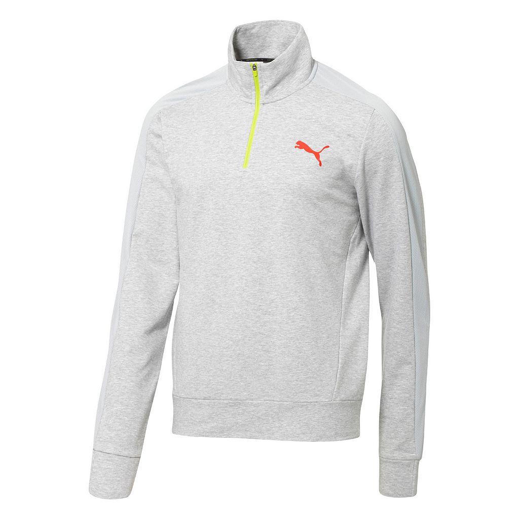 Men's PUMA Quarter-Zip Fleece Pullover