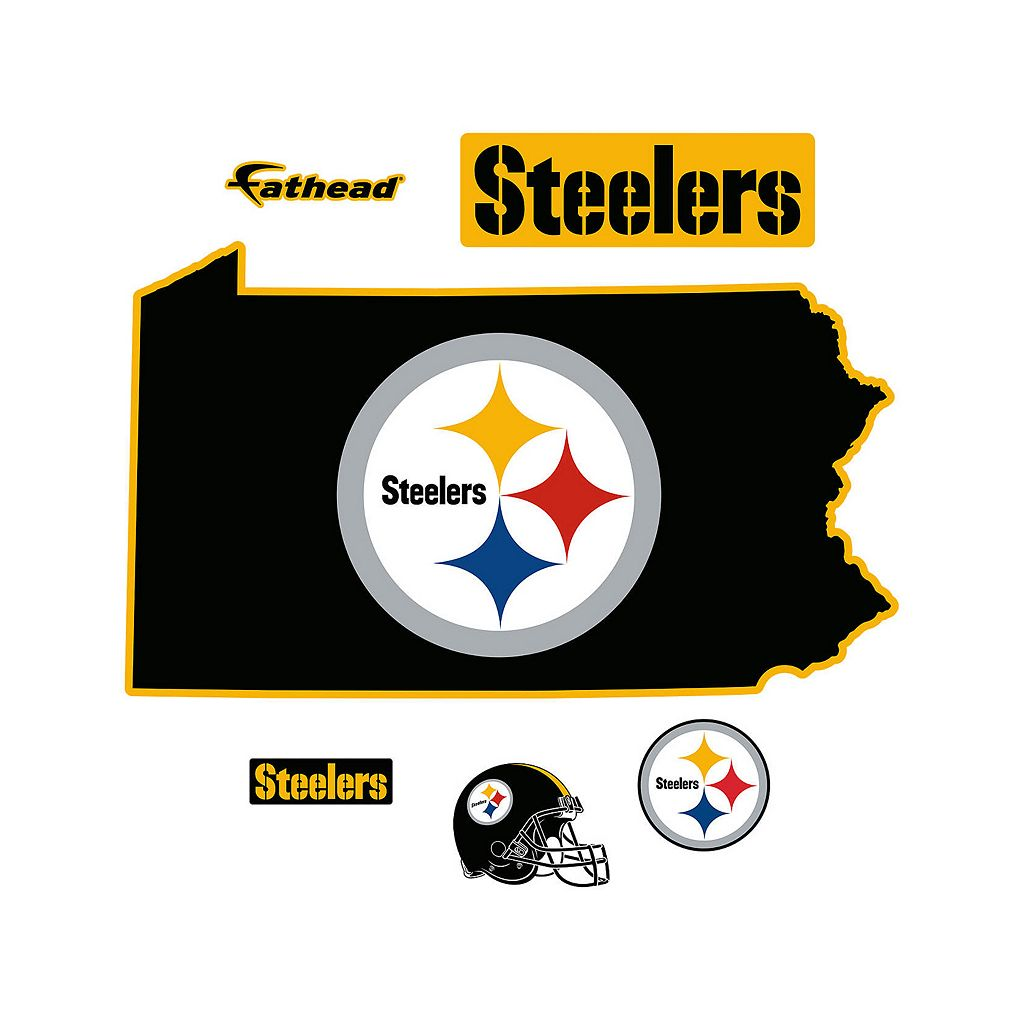 Pittsburgh Steelers State Logo Wall Decal by Fathead