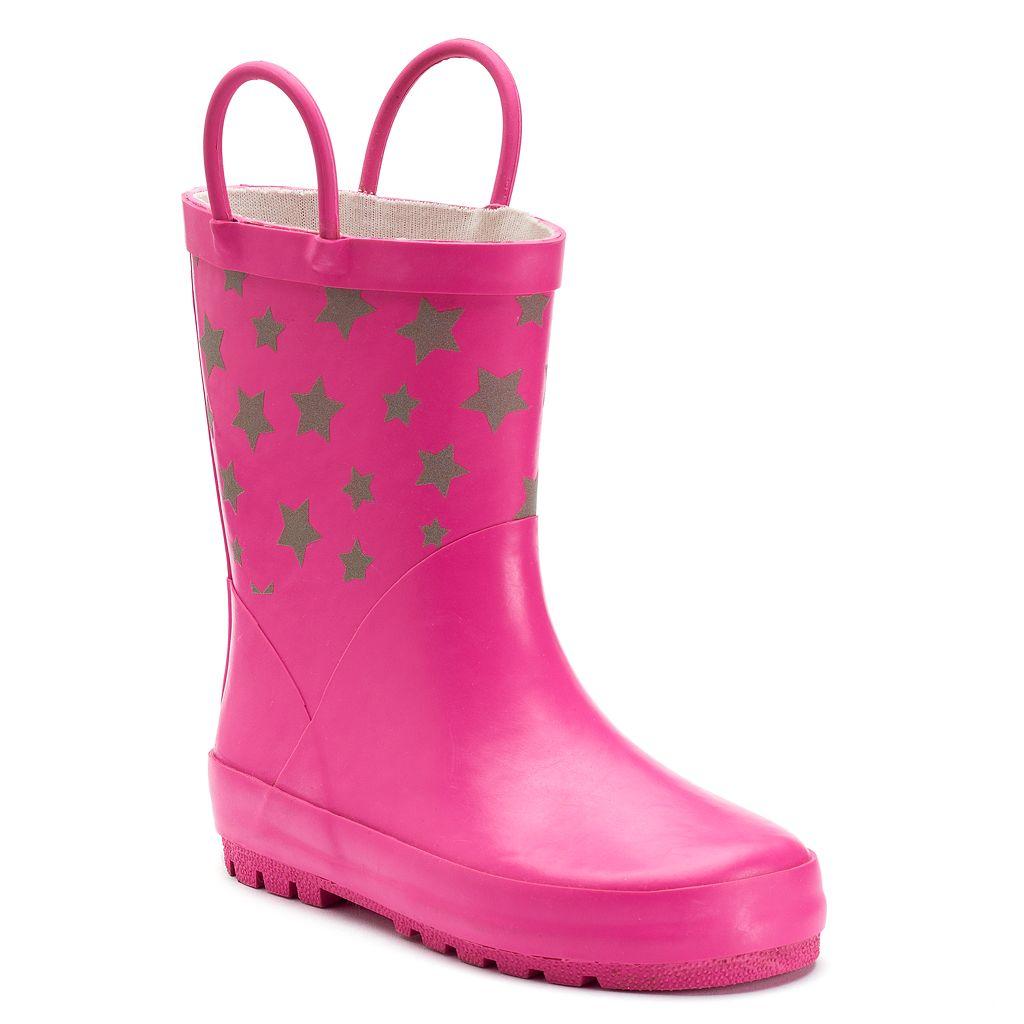 Western Chief Twinkle Stars Reflective Girls' Waterproof Rain Boots