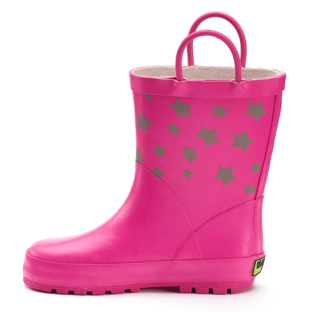 Western Chief Twinkle Stars Reflective Girls' Waterproof Rain Boots