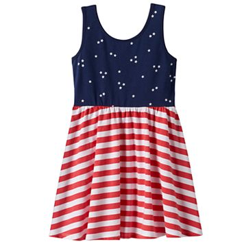 Toddler Girl Jumping Beans® Star & Stripe Print Dress