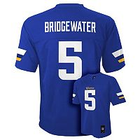 Boys 8-20 Minnesota Vikings Teddy Bridgewater NFL Replica Jersey