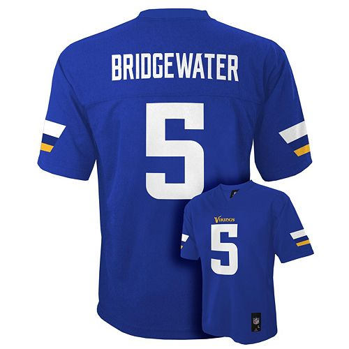 Boys 8-20 Minnesota Vikings Teddy Bridgewater NFL Replica Jersey