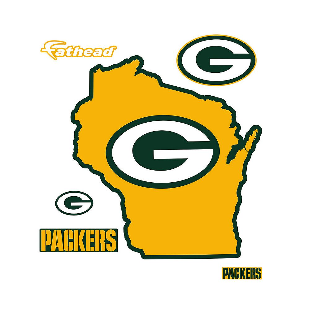 Green Bay Packers State Logo Wall Decal by Fathead
