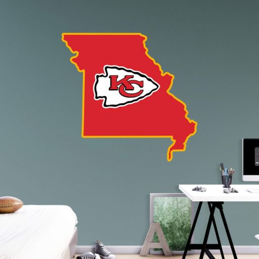Kansas City Chiefs State Logo Wall Decal by Fathead