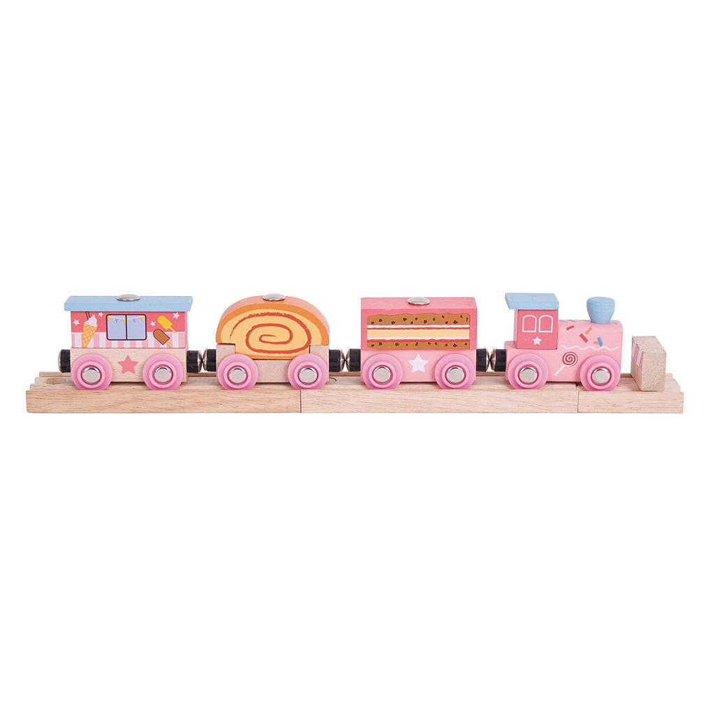 BigJigs Toys Wooden Sweetland Express Train