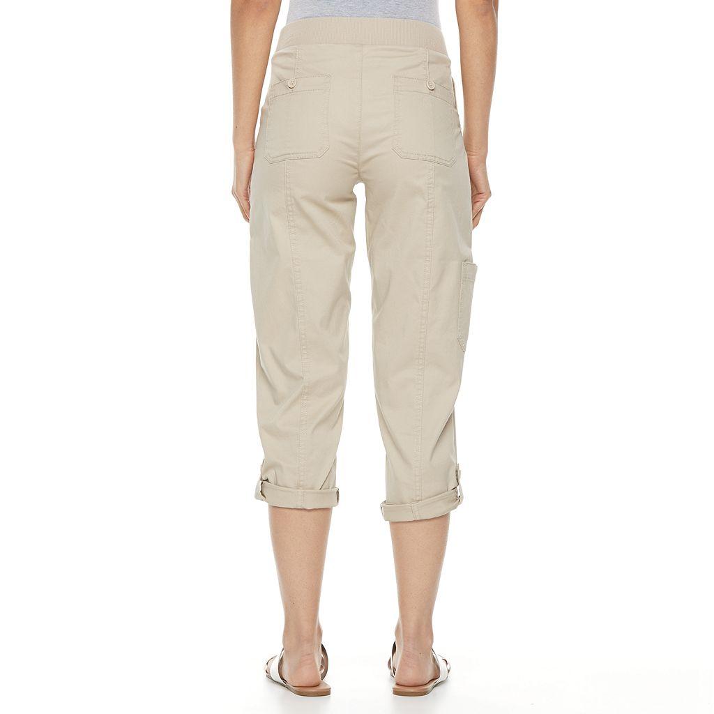 Women's Croft & Barrow® Convertible Twill Capris