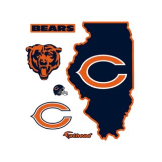 Chicago Bears State Logo Wall Decal by Fathead