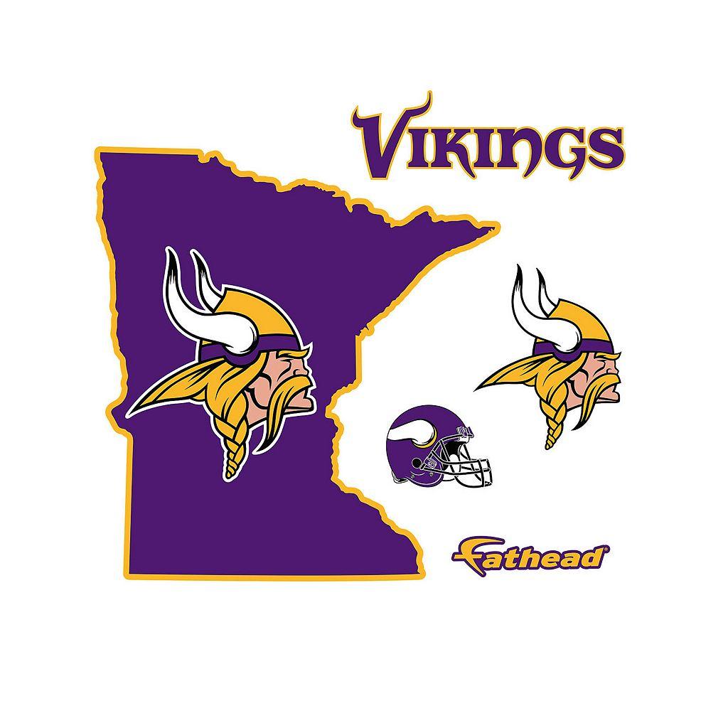 Minnesota Vikings State Logo Wall Decal by Fathead