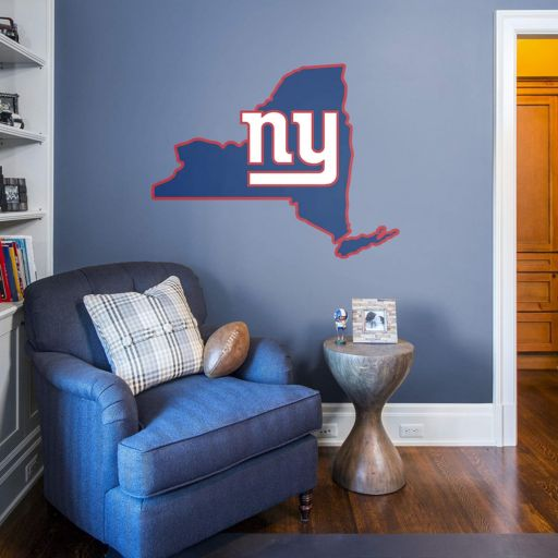 New York Giants State Logo Wall Decal by Fathead