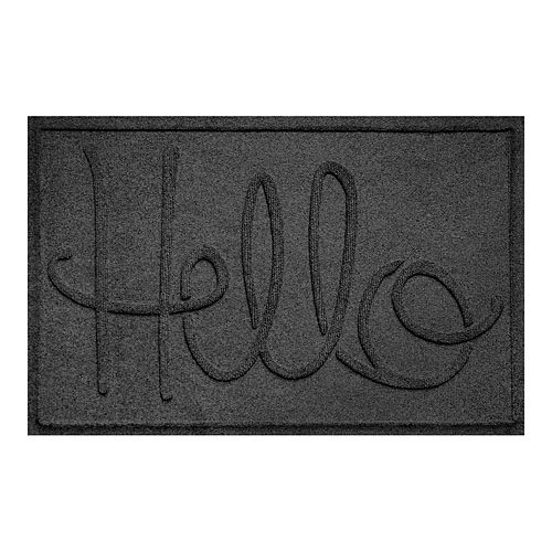 WaterGuard ''Hello'' Indoor Outdoor Mat - 24'' x 36''