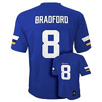 Boys 8-20 Minnesota Vikings Sam Bradford Replica Jersey