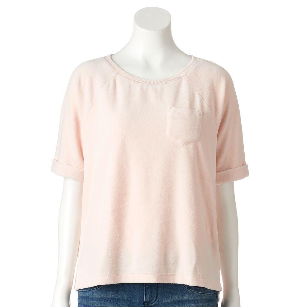 Women's SONOMA Goods for Life™ Velour Crewneck Sweatshirt