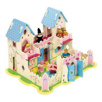 BigJigs Toys Heritage Princess Cottage Wooden Playset