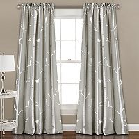 Half Moon 2-pack Bird on the Tree Curtain