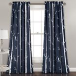 Half Moon 2-pack Bird on the Tree Window Curtains